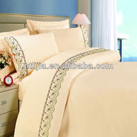 Polycotton modern design lace bed sheets pictures