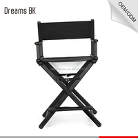 Cheap Beauty salon comfortable fashionable makeup chair, Aluminum metal frame 1680D nylon folding director chair factory
