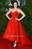 Celebrity Inspired Laura Michelle Kelly 2015 Tony Awards Red Carpet Red Women Formal Dress