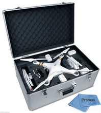Aluminum Hard-Shell Case with Adjustable Foam Fits with All DJI Phantom Drone Models 1+2+3 Series