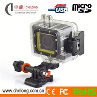 2014 New Outdoor 1080P Full HD 60m Waterproof 1080p tactical helmet camera for diving and riding