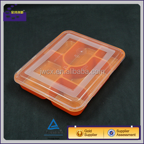 Biodegradable microwave disposable plastic food container with sealed lid