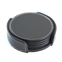 blank leather coaster