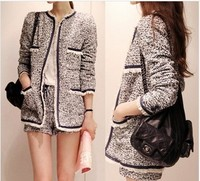 D60622A 2013 NEW WINTER FASHION KOREAN SLIM SMALL FRAGRANT WIND WOOLEN TWEED COAT COTTON JACKET