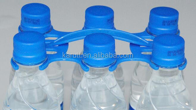 Custom Quality Colorful Plastic 6 Bottles Carrier Holder for Water, Drinks