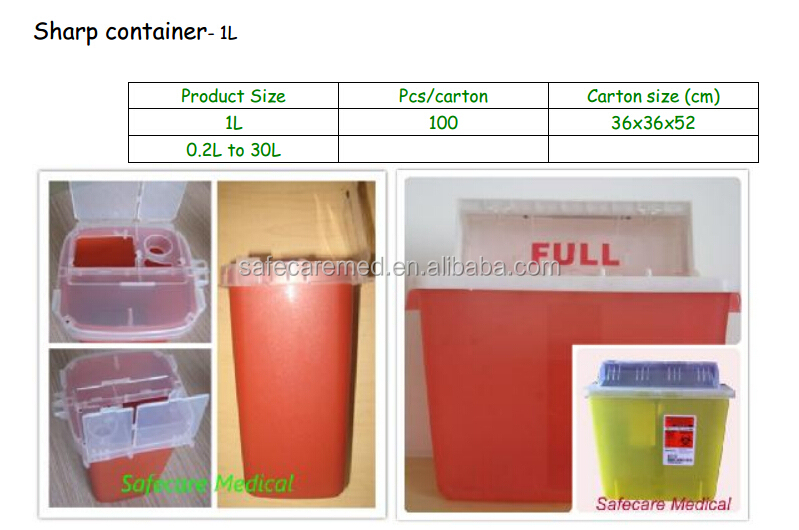 5L square waste container with holder