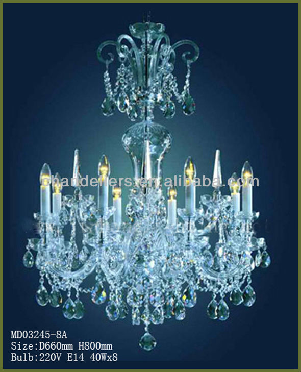 2014 modern crystal chandelier white candle chandeliers MD03245-8A