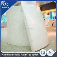 Hot selling marble coating solid aluminium sandwich panel for wall decoration