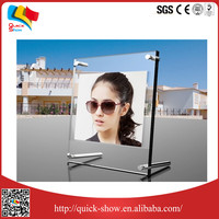 Floor standing printed high quality detachable a4 acrylic display stand