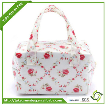 2016 New Floral Design wine food picnic cooler bag