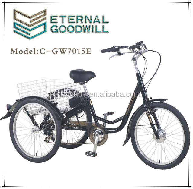 250W cheap adult tricycle 2 wheels electric tricycle adults motorized tricycles for adults
