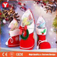 Unique Wholesale Christmas santa stocking/ Christmas Decoration/ Christmas Stocking for Sale