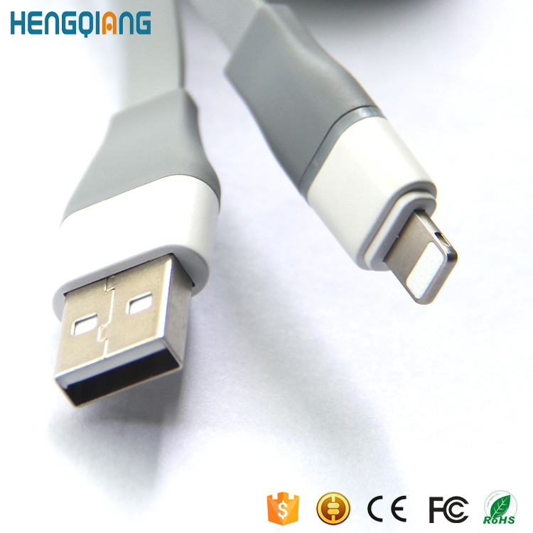 Mobile phone data cable very cheap 5V 2.4A with led usb cable