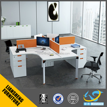 2016 High quality used open space MFC wood office partition stationary with aluminium frame
