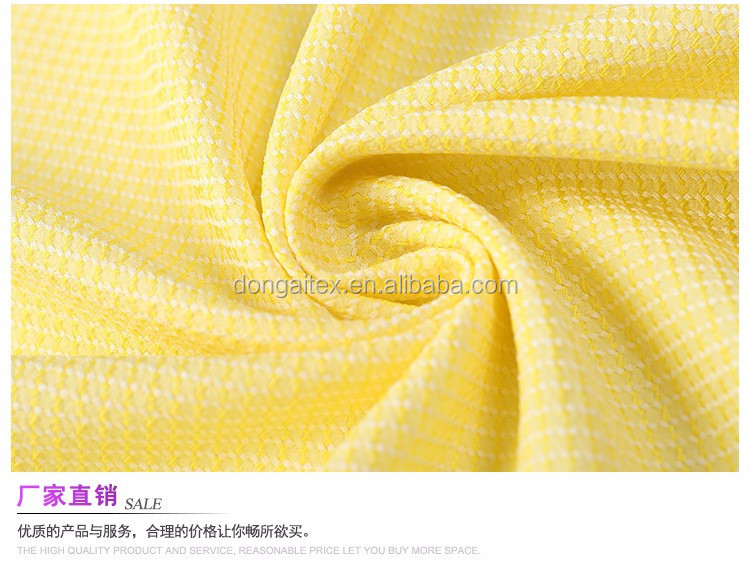 2017 new style jacquard poly fabric dress fabric