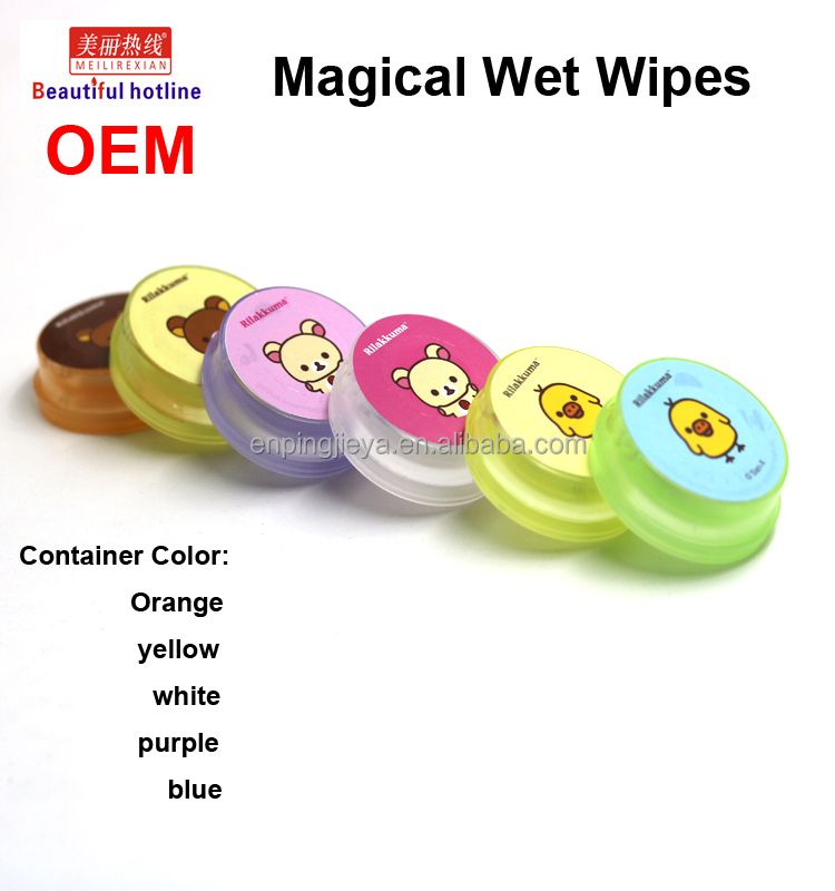 Supplier OEM Factory produce Magical Push Wet Wipes face and hand skin care Wipes