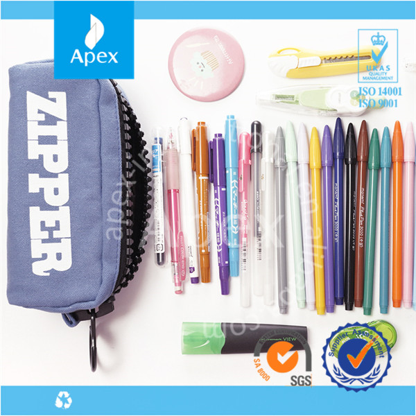 Hot sale Large cheap pencil bag with zipper