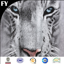 Factory high quality digital white tiger print fabric