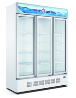 1400L 3 door upright display cooler fridge LG-1400M3/W