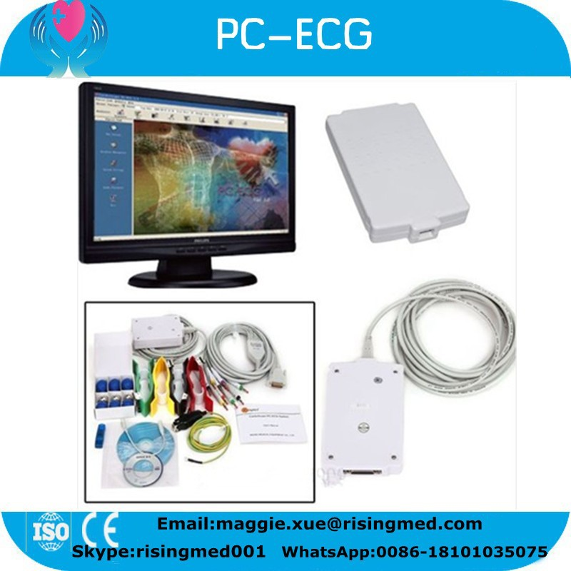 USB PC port 12 lead Resting PC base ECG System with Diagnostic Cardiology with auto interpretation