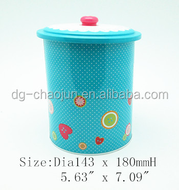 Packaging gift box pretty colorful special lid biscuit tin box