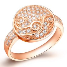 Top level best selling round curve jewelry ring gold plated