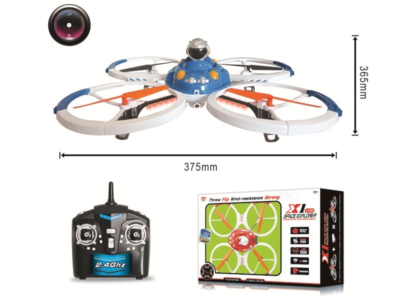 2.4G HD Aerial Big Size RC 4 Axis Aircraft Quadcopter with Camera