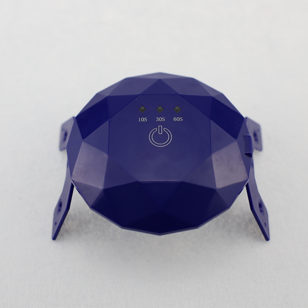 MINI UV Nail Dryer Nail Lamp Curing Lamp Manicure USB Gel Polish LED Light SOS Light Design Purple with USB Charging Port