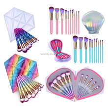 10pcs unicorn makeup brush set cosmetic brushes synthetic hair make up brush set