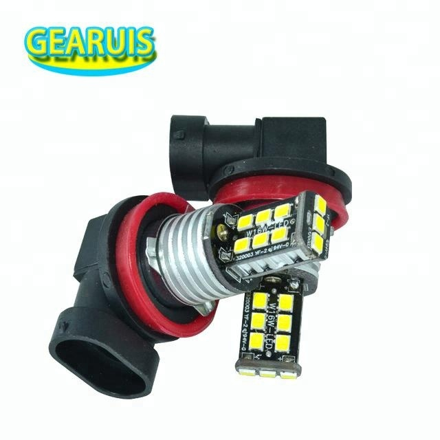 H8 Canbus Headlight 250MA 15 SMD 2835 <strong>LED</strong> No Error H9 <strong>H10</strong> H11 white blue yellow red 12V DRL for Daytime Running Light <strong>fog</strong> Lamp