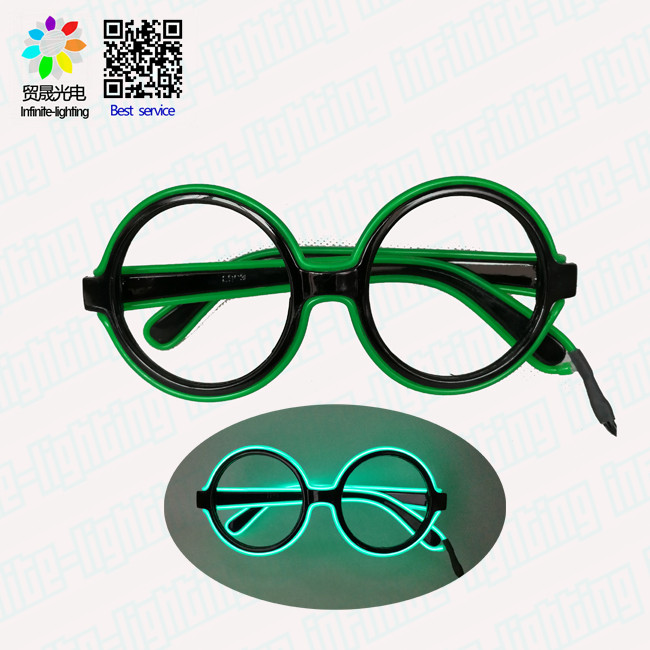 Hot sale halloween led flash glasses in party/ party led flash glasses
