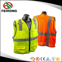 2016 hot sale blue mesh long sleeve puffer safety vest safety jackets