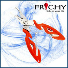 FPN09-Frichy Stainless Stee Braid Line Scissors Long Nose Fishing Pliers