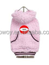 Promotional Pet Products Dog Hoodie Winter Warm Soft Dog Clothes Pink Dog Pet Clothing