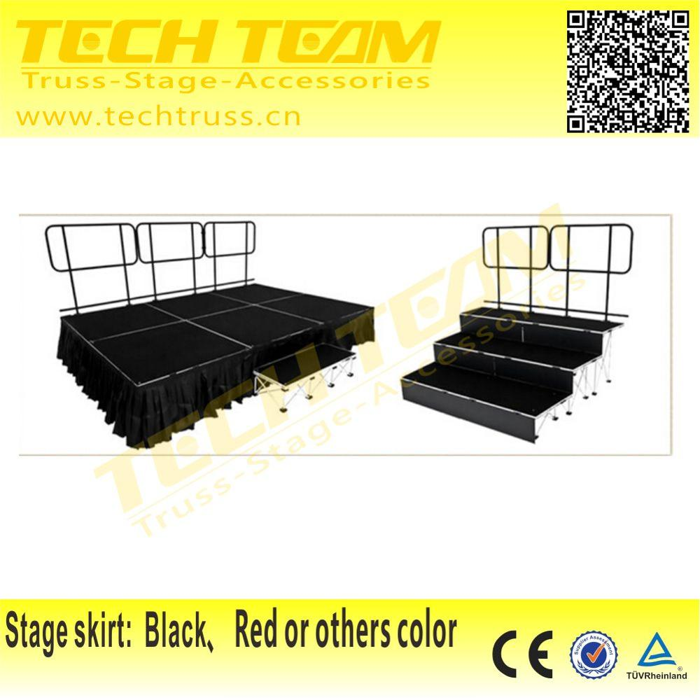 Outdoor STX Folding Event Stage For Party,School,Birthday Use
