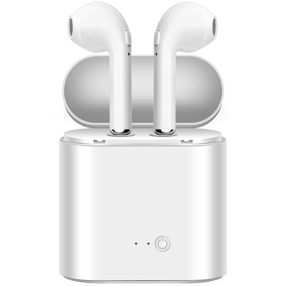 Shenzhen Supplier Dual TWS i7s True Stereo Wireless Earbuds Earphone Headset With Mic For <strong>Apple</strong> With Charging Box Free Sample