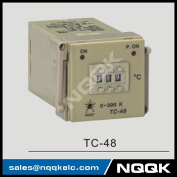 TC-48 48mm K J PT100 NO OFF Industrial Temperature Controller for plastic / rubber / packing machinery