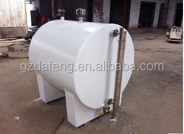 Full steel 1.5 CBM jet fuel/gasoline/ diesel horizontal storage tank from Chinese manufacturer