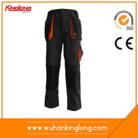 Wholesale alibaba top quality black work pants with knee pad