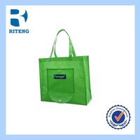 easy carry foldable polyester shopping bag