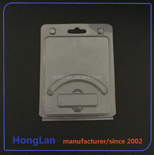 Customized transparent plastic usb clamshell Package with inserted card