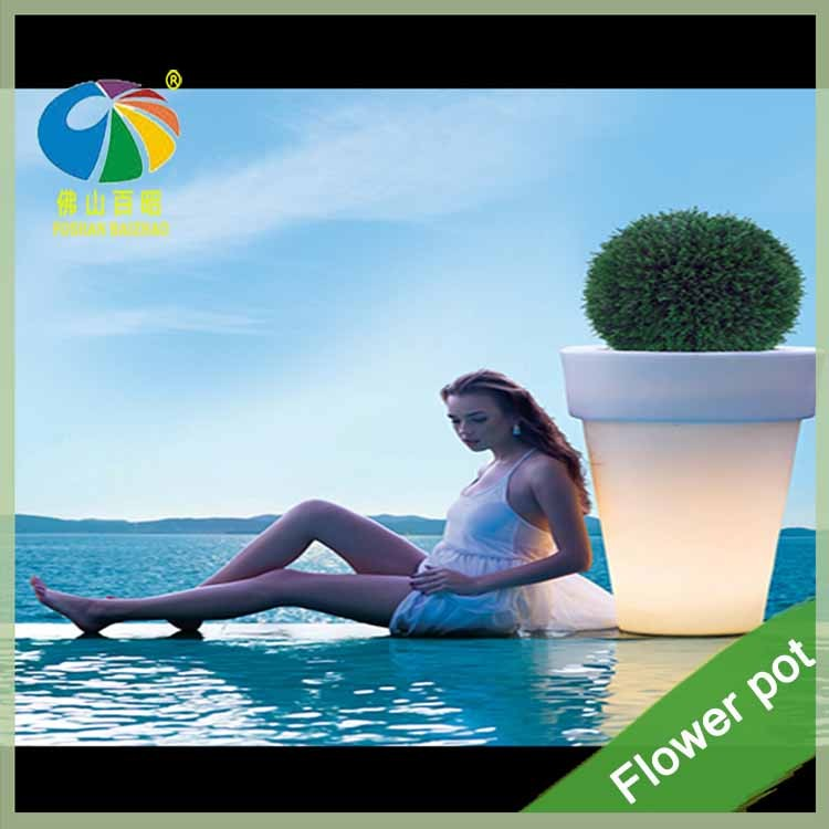 New Plastic colour changing solar led magic wedding flower pot