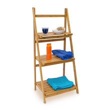 bathroom corner bamboo storage rack book shelf on sale