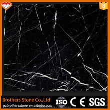 High quality nero marquina black marble slab polished cultured marble slabs marble dining table
