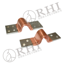 Electric car battery connector flexible copper busbar