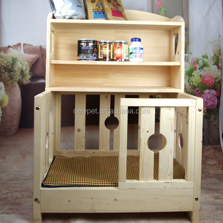 Good quality hot sell pet house bed wooden dog house kits with locker