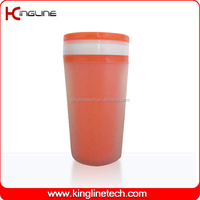300ml plastic double wall cup cake with lid (KL-5011)