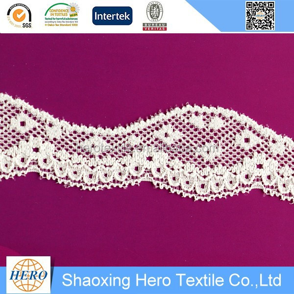 Hot style garment good quality nylon spandex dry lace material for sale