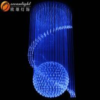 optic fiber sprial hotel lighting led christmas optic lights OM951
