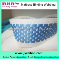 2015 Best Jacquard Polyester flat webbing for mattress 3.5cm 3.8cm